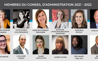 AGA 2021 – Mme Marianne Lefebvre réélue présidente et Mme Geneviève Bolduc se joint au conseil d'administration